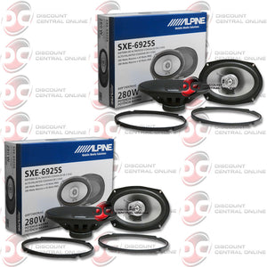 "Alpine SXE-6925S 6x9"" 2-way Car Audio Speakers (2 Pairs)"
