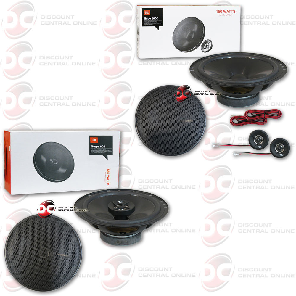 "JBL Stage 602 6-3/4"" 2-way speakers and JBL Stage 600C 6-1/2"" component speaker system"