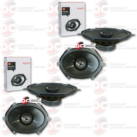 "4 x JBL Stage 8602 6""x8"" Car Audio Speakers (2 Pairs)"
