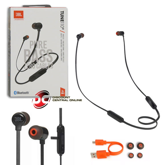 JBL TUNE110BT BLUETOOTH WIRELESS PURE BASS EARPHONES IN-EAR HEADPHONES