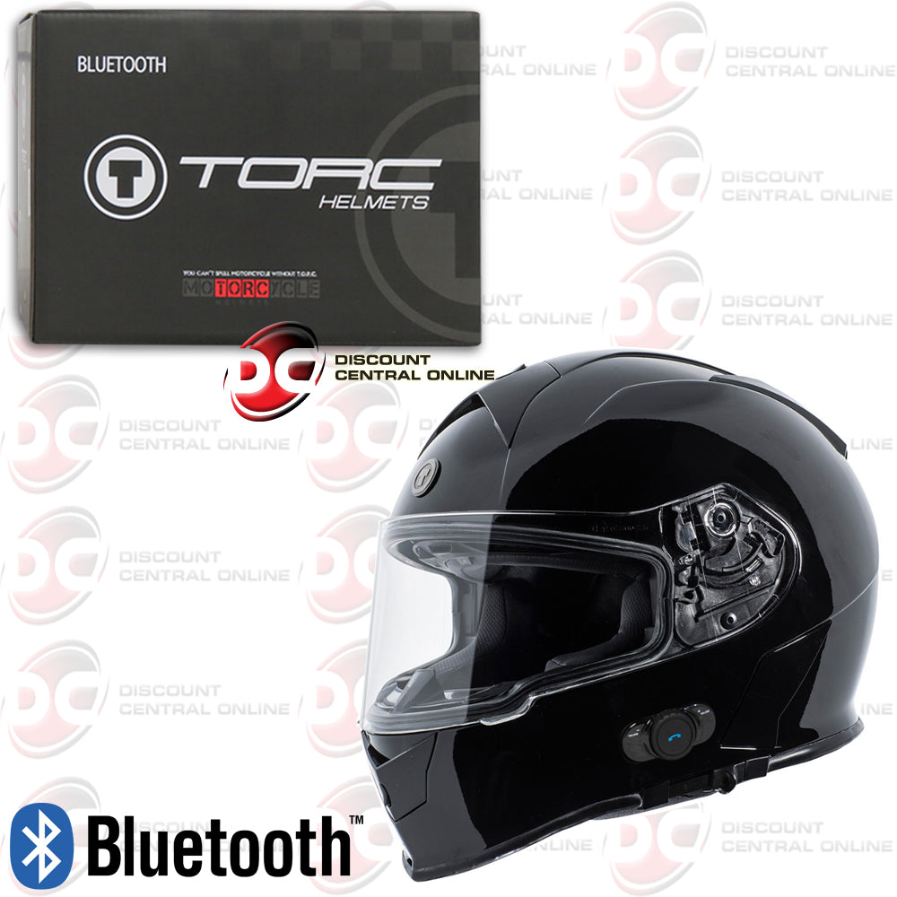 1728891b ... TORC T14B MAKO MOTORCYCLE HELMET WITH BUILT-IN BLUETOOTH COMMUNICATION  ...