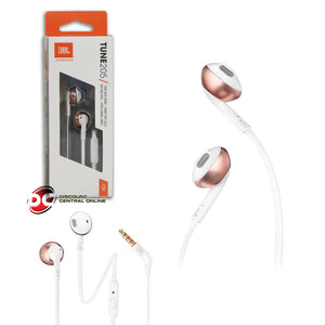 JBL TUNE 205 PURE BASS COMFORT-FIT WIRED EARBUD HEADPHONES