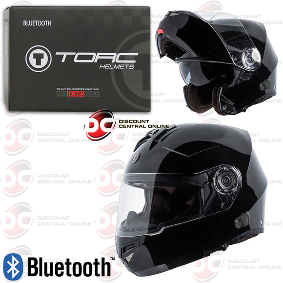 TORC T27B MODULAR MOTORCYCLE HELMET WITH BLUETOOTH COMMUNICATION (GLOSS BLACK)