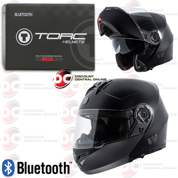TORC T27B MODULAR MOTORCYCLE HELMET WITH BLUETOOTH COMMUNICATION (MATTE BLACK)