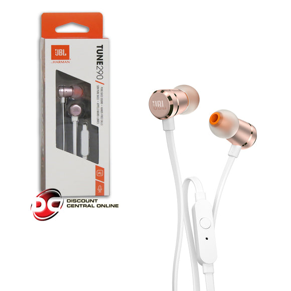 JBL TUNE 290 PREMIUM ALUMINUM-BUILD PURE BASS WIRED EARBUD HEADPHONES