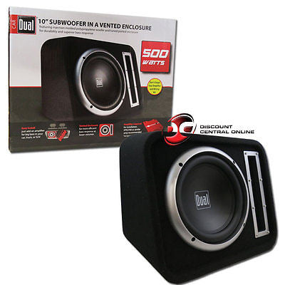 "BRAND NEW DUAL CAR AUDIO 10"" LOADED SUB WOOFER BOX 500 WATTS"