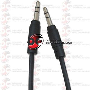 3.5mm AUX AUXILIARY AUDIO CABLE MALE TO MALE 6 FEET CAR RADIO STEREO PC AUX-IN