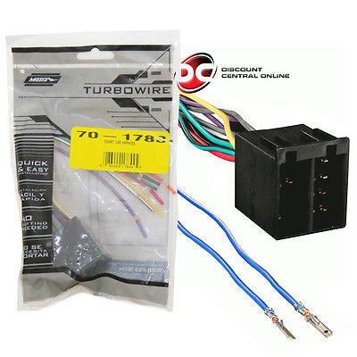 METRA 70-1783 WIRING HARNESS FOR 2008-UP SMART FORTWO VEHICLES