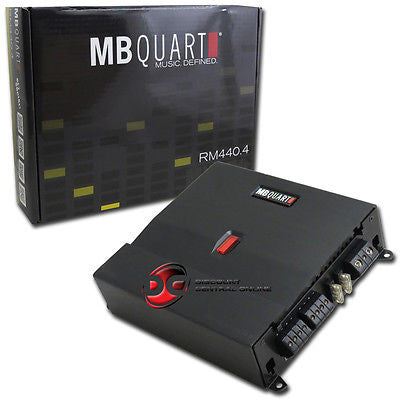 MB QUART RM440.4 CAR AUDIO 4-CHANNEL AMPLIFIER 440W RMS