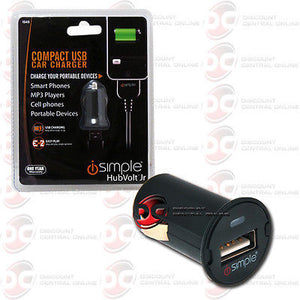 ISIMPLE IS45 HUBVOLT JR COMPACT USB CAR CHARGER FOR PORTABLE DEVICES