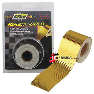 "DEI 010395 1.5"" self adhesive reflect a gold heat wrap barrier tape 30 feet roll"