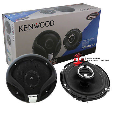 "2014 KENWOOD 6.5"" 6-1/2 3-WAY CAR AUDIO COAXIAL SPEAKERS (PAIR) 270W MAX"