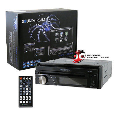 "SOUNDSTREAM 1DIN VIR-7830 7"" TOUCHSCREEN DVD CD PLAYER FRONT AUX-IN & USB INPUT"