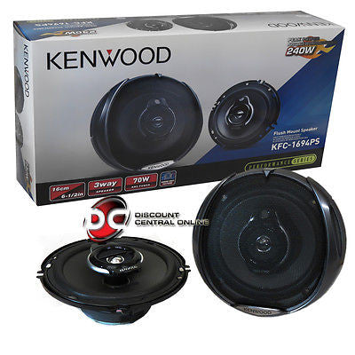 "KENWOOD KFC-1694PS 6.5"" 3-WAY CAR AUDIO COAXIAL SPEAKERS (PAIR)"