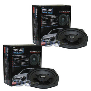 "Earthquake SWS-8X 8"" 4 Ohm Shallow Mount Car Subwoofer (Pair)"