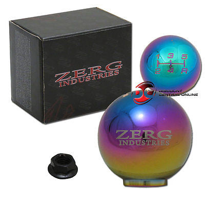5 SPEED NEO CHROME SHIFT KNOB FITS MOSTLY HONDA AND ACURA VEHICLES