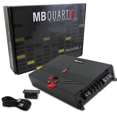 MB QUART RM1000.1 CAR AUDIO MONOBLOCK AMPLIFIER 1000W RMS