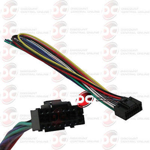 KENWOOD 16 PIN WIRING HARNESS FOR SELECT KENWOOD HEADUNITS STEREOS on jvc car stereo wiring harness, kenwood car stereo wire harness, kenwood kdc mp342u wiring harness, kenwood 16 pin connector,
