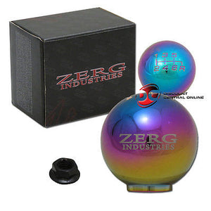 6 SPEED NEO CHROME SHIFT KNOB FITS MOSTLY HONDA AND ACURA VEHICLES