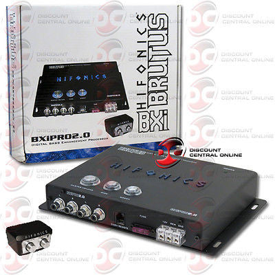 HIFONICS BXIPRO2.0 CAR AUDIO BASS ENHANCEMENT PROCESSOR WITH REMOTE