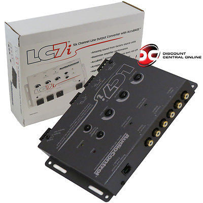 AudioControl LC7i 6-Channel Line Output Converter with Bass Restoration in Gray