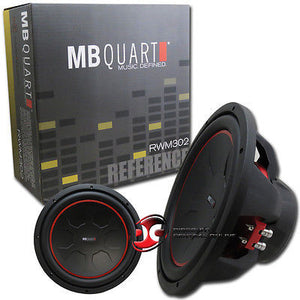 "MB QUART RWM302 12"" CAR AUDIO DUAL 2-OHM SUBWOOFER 350W RMS"