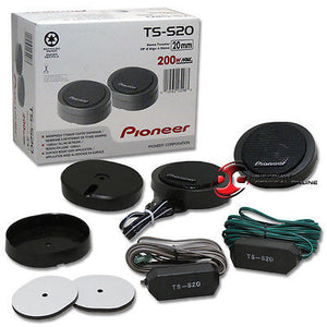 "PIONEER TS-S20 3/4"" CAR AUDIO HIGH POWER COMPONENT DOME TWEETERS (PAIR)"