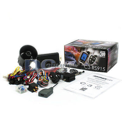 AUTOPAGE C3-RS915 REMOTE CAR STARTER WITH 6-CHANNEL SECURITY & 2-WAY LCD REMOTE
