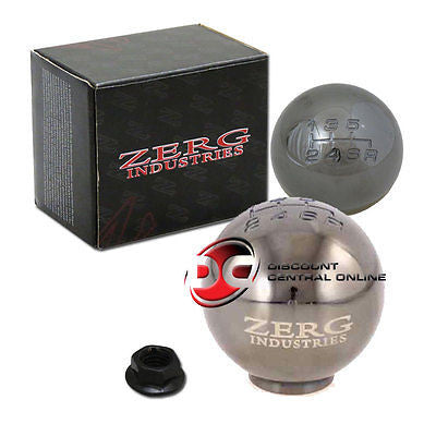 6 SPEED SILVER SHIFT KNOB FITS MOSTLY HONDA AND ACURA VEHICLES