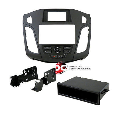 METRA 99-5827B DOUBLE/SINGLE DIN CAR DASH KIT FOR 2012-UP FORD FOCUS (BLACK)