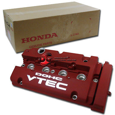 GENUINE HONDA VTEC ENGINE VALVE COVER IN DURABLE WRINKLE FREE FINISH (RED)