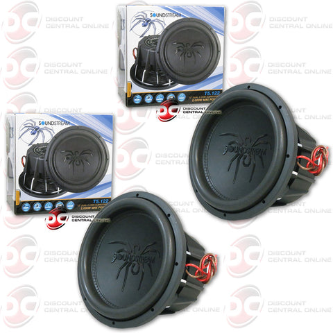 "2X SOUNDSTREAM T5.122 12"" DUAL COIL CAR AUDIO SUBWOOFER (TARANTULA T5)"