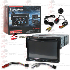 "FARENHEIT TI-710B 7"" CAR AUDIO MULTIMEDIA RECEIVER WITH AM/FM/CD/DVD/BLUETOOTH & IPOD CONTROL+REAR VIEW CAMERA"