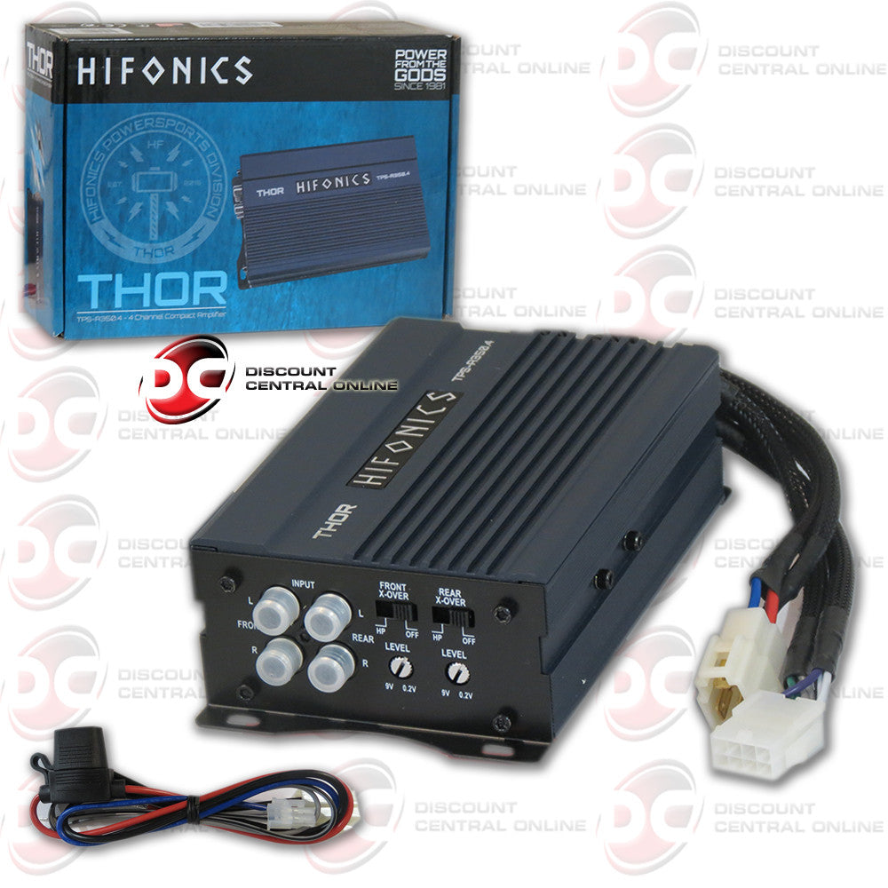 HIFONICS TPS-A350.4 4 CHANNEL 350 WATT CAR AUDIO AMPLIFIER (THOR SERIES)
