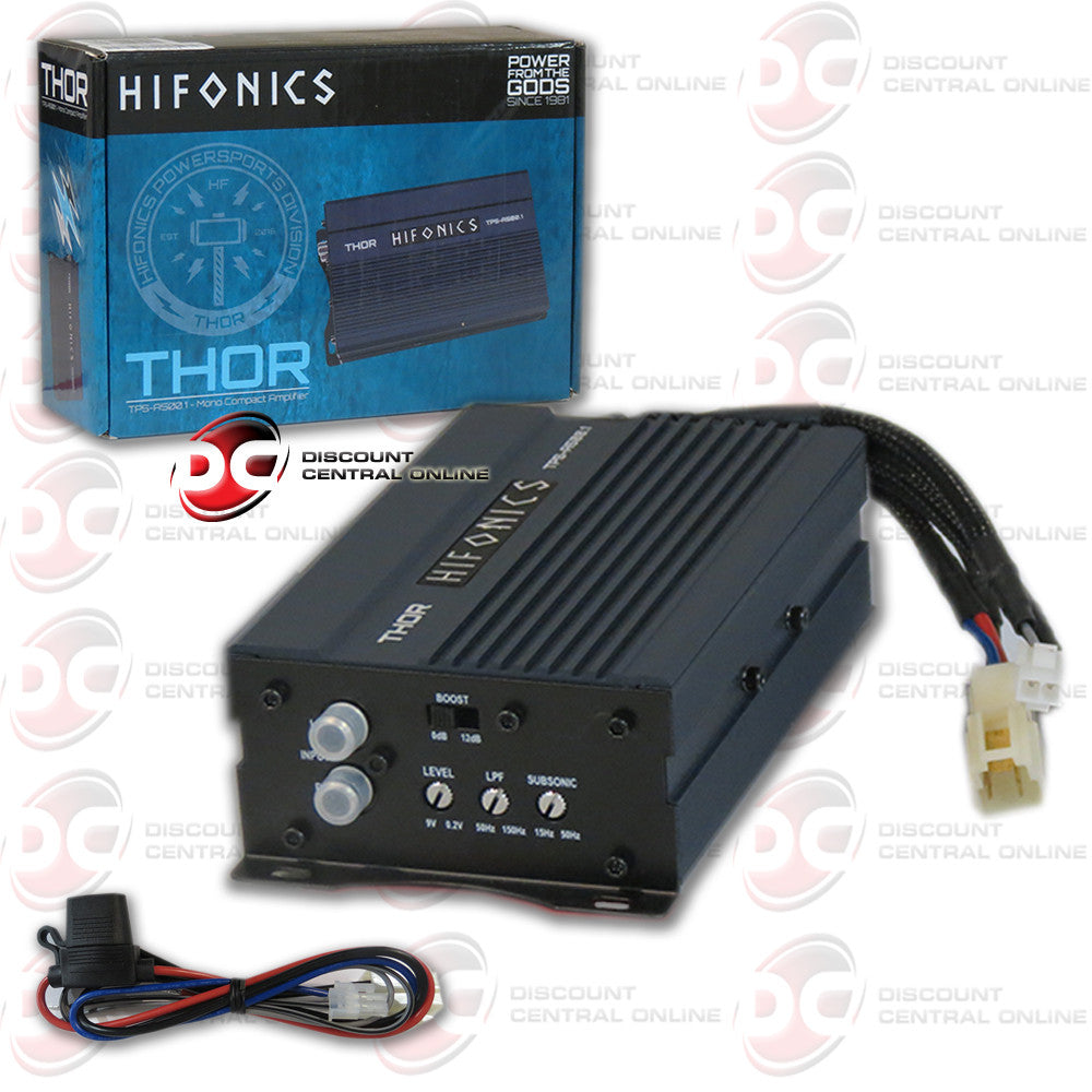 HIFONICS TPS-A500.1 1 CHANNEL 500 WATT CAR AUDIO AMPLIFIER (THOR SERIES)