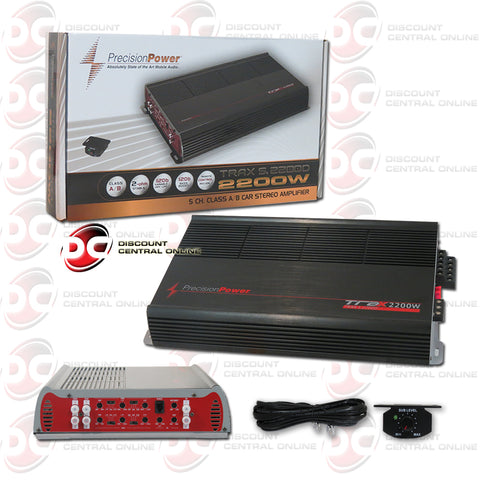 PRECISION POWER-TRAX5.2200D 5 CHANNEL CLASS A/B CAR AUDIO AMPLIFIER (TRAX SERIES)