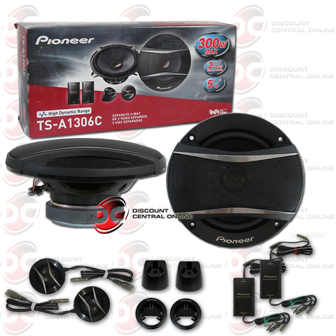 "Pioneer TS-A1306C 2-Way 5.25"" Car Audio Component Speakers"
