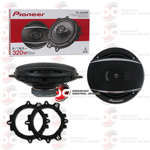 "Pioneer TS-A1670F 6.5"" 3-way Car Audio Speakers (Pair)"