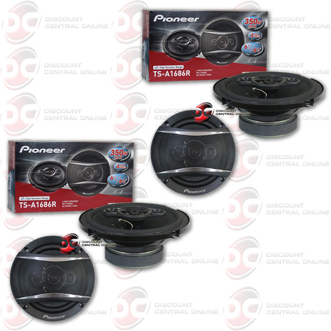 "2 x Pioneer TS-A1686R 6.5"" 4-way Car Audio Coaxial Speakers"