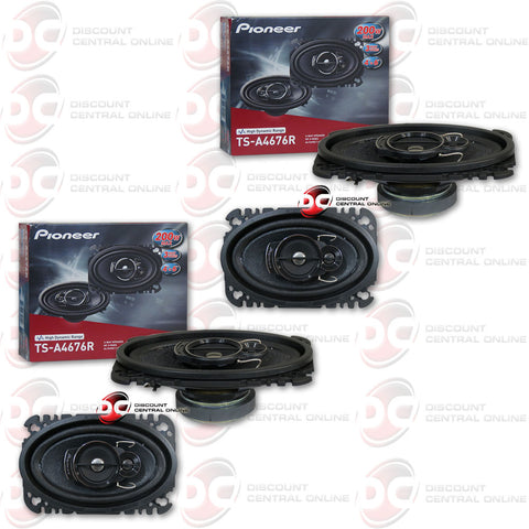 "Pioneer TS-A4676R 4x6"" 3-way Car Speakers (2 Pairs)"