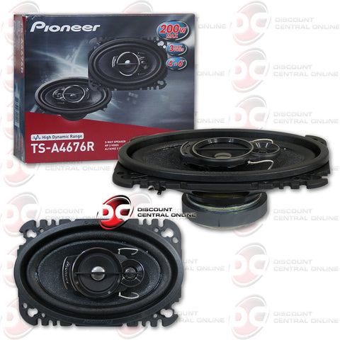 "Pioneer TS-A4676R 4x6"" 3-way Car Speakers"