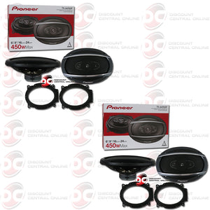 "Pioneer TS-A6960F 6"" X 9"" 4-way Car Audio Speakers (2 Pairs)"