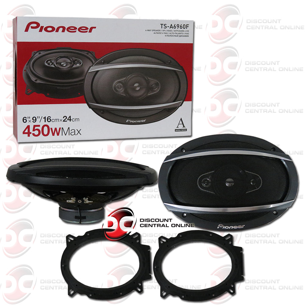 Pioneer Ts A6960f 6 X 9 4 Way Car Audio Speakers Pair