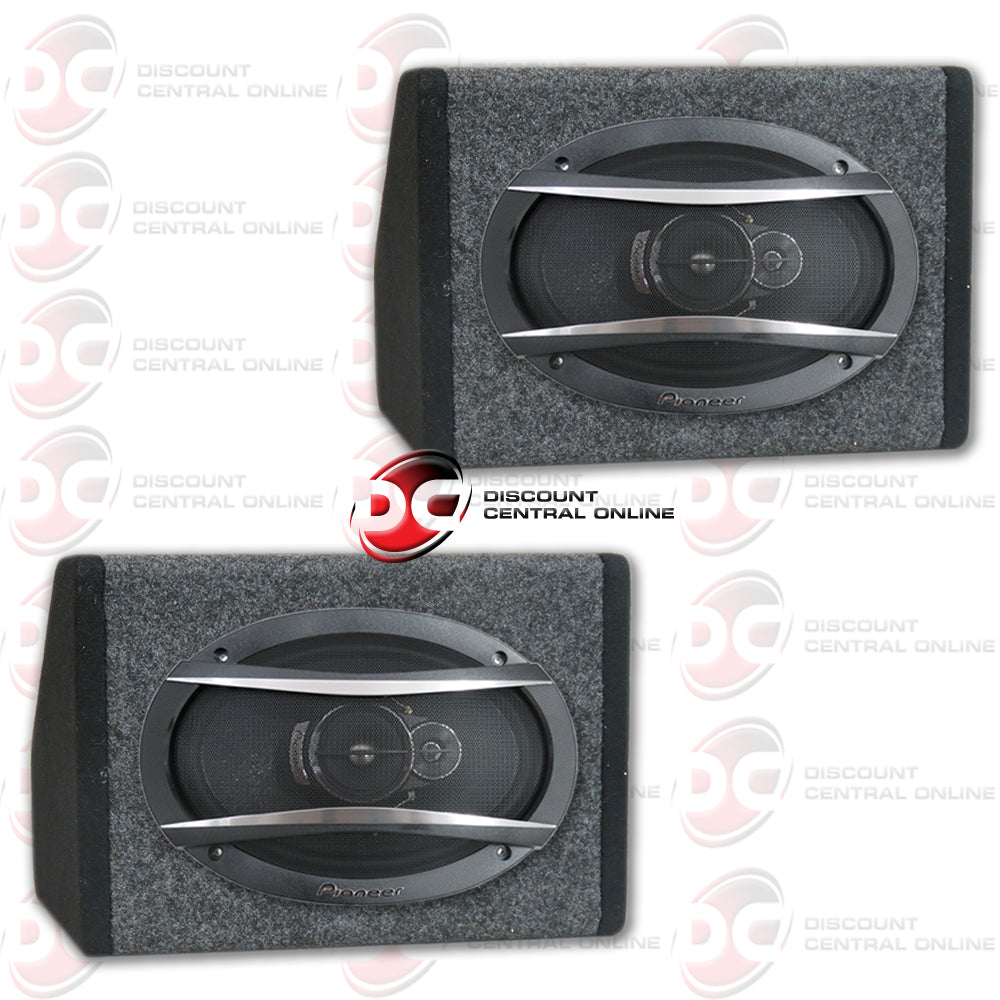 PIONEER TS A6966R 6x 9 SPEAKERS PLUS FREE ANGLED SPEAKER BOXES