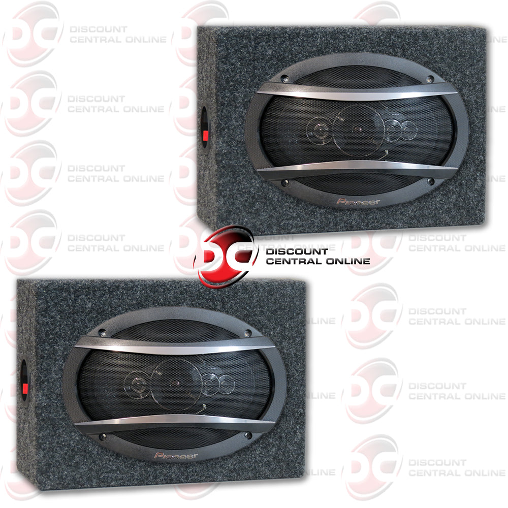 "Pioneer TS-A6996R 6x9"" 5 Way Car Audio Coaxial Speakers Plus Two-Speaker Housing Boxes"