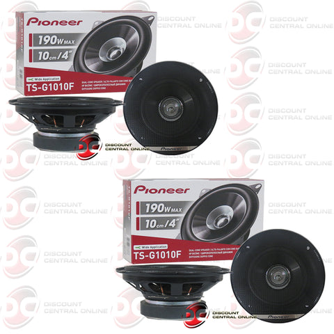 "4x Pioneer TS-G1010F 4""Car Audio Coaxial Dual Cone Speakers"