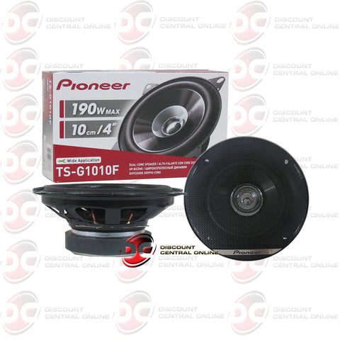 "2x Pioneer TS-G1010F 4""Car Audio Coaxial Dual Cone Speakers"