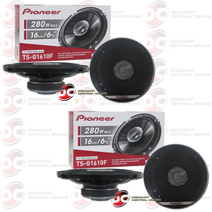 "Pioneer TS-G1610F 6.5"" Car Audio Coaxial Dual Cone Speakers (2 Pairs)"