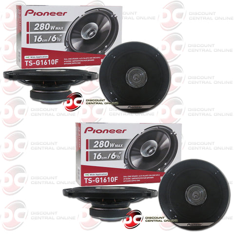 "4x Pioneer TS-G1610F 6.5"" Car Audio Coaxial Dual Cone Speakers"