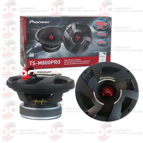 "Pioneer TS-M800PRO 8"" Car Audio Mid Bass Speaker Driver Pro Series"
